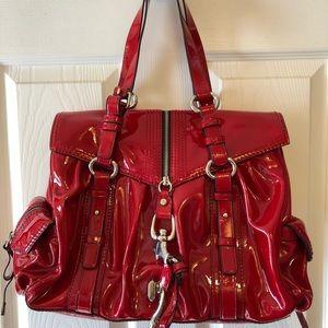 Francesco Biasia Red patent leather bag